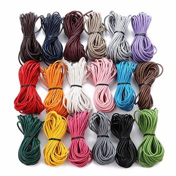 10meter/lot 2mm 100% Genuine round Leather Cord Jewelry for Bracelet Thread Rope Necklace Making Finding