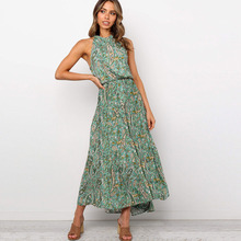 Boho 2020 Summer Women Floral Maxi Long Dresses El