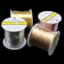 0.3-1mm Non Tarnish Gold/Silver/Rose Gold Copper Wire Colorfast Beading Wire For Jewelry Making Supplies DIY Bracelet Wholesale