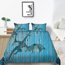 Blue Board Bedding Set Artistic Creative Fashionab