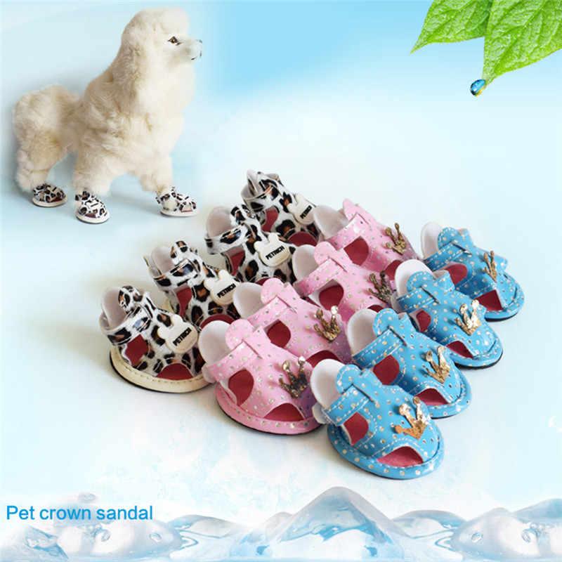 Zapatos de verano de perro a la moda Zapatos de malla transpirables sandalias de perro anti-escaldado sandalias de perro 2019 nuevos @ C