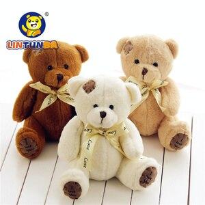 Image 1 - 1pc 15cm Patch Bear Dolls Teddy Bear Soft Toy Bear Wedding Gifts Baby Toy Birthday gift brinquedos Soft toys