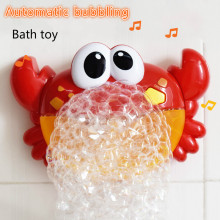 Small Crab Bathing Machine Soap Bath Making Toy Kids Music Water Toys Outdoor  Bubble