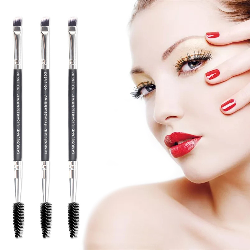 1pcs Hot Sale Double Head Eye Makeup Brush Nylon Fiber Eye Shadow Brush Eyebrow foundation Brush Cosmetic Brush Cosmetics Tool