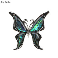 Hot selling abalone brooch / Simple shell scorpion insect butterfly