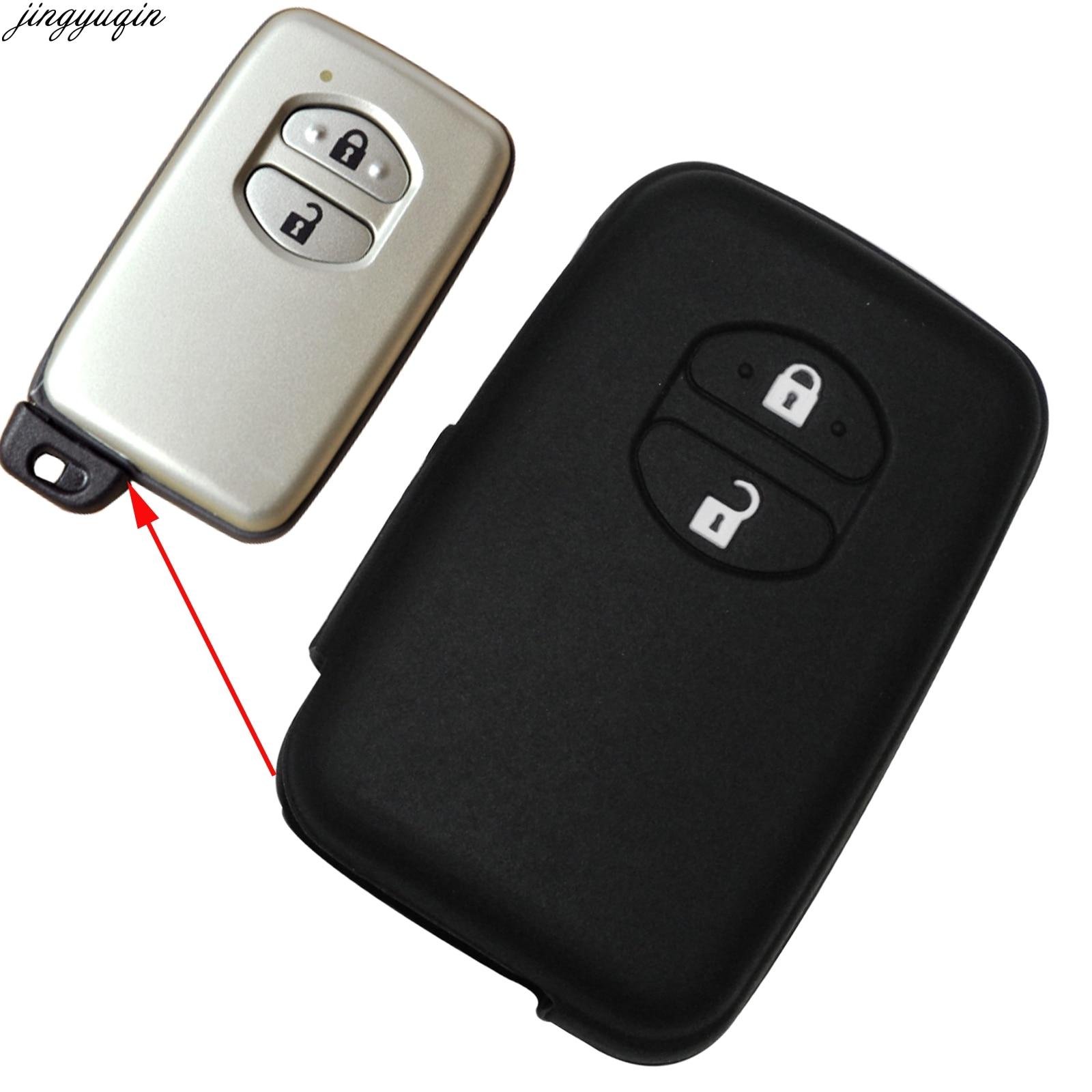 Чехол для ключей автомобиля с 2 кнопками для Toyota RAV4 Land Cruiser Camry Highlander Prado Prius