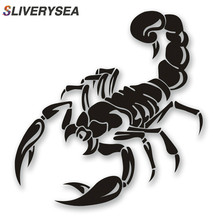 SLIVERYSEA 28CM*16CM Car Styling Funny Scorpion PVC Vinyl Car Stickers and Decals