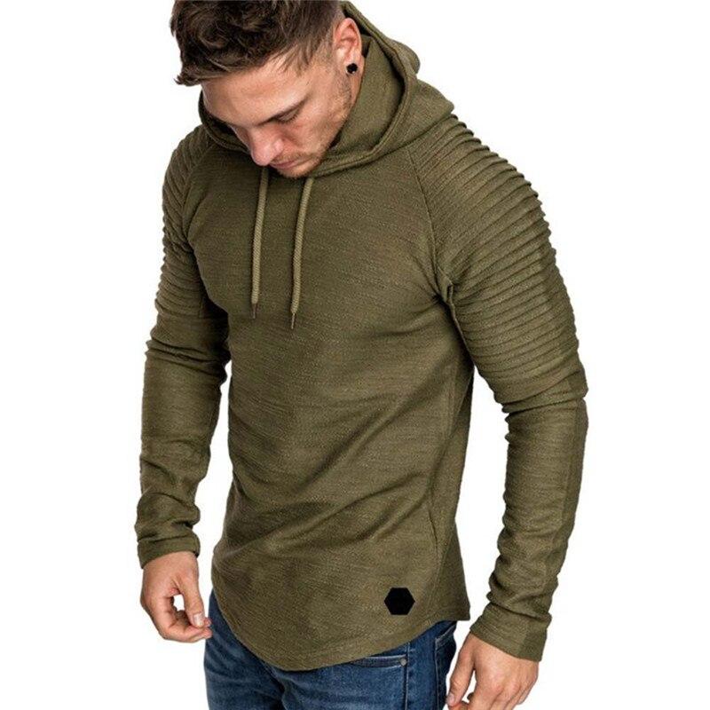Fashion Mens Hoodies Brand Men Solid Color Hooded Slim Sweatshirt Men Hoodie Hip Hop Hoodies Autumn New Male Pullovers