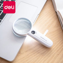 Get more info on the Deli 1PCS Magnifier LED Light HD Multi-function Portable Handheld Magnifying Glass Reading Newspaper Office Learning 9098