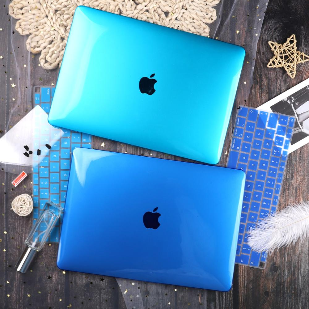Crystal Transparent Case For Apple Macbook Air Pro Retina 11 12 13 15 For Macbook New Air 13 Laptop Case Cover A1932 2018