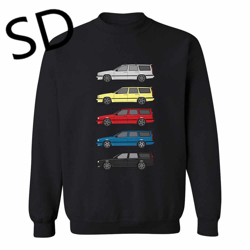Dropshipping 3D Hoodies hombres Turbo vagones hombres sudadera Volvo 850 V70 T5 Hoodies mujeres streetwear Harajuku Sudadera con capucha