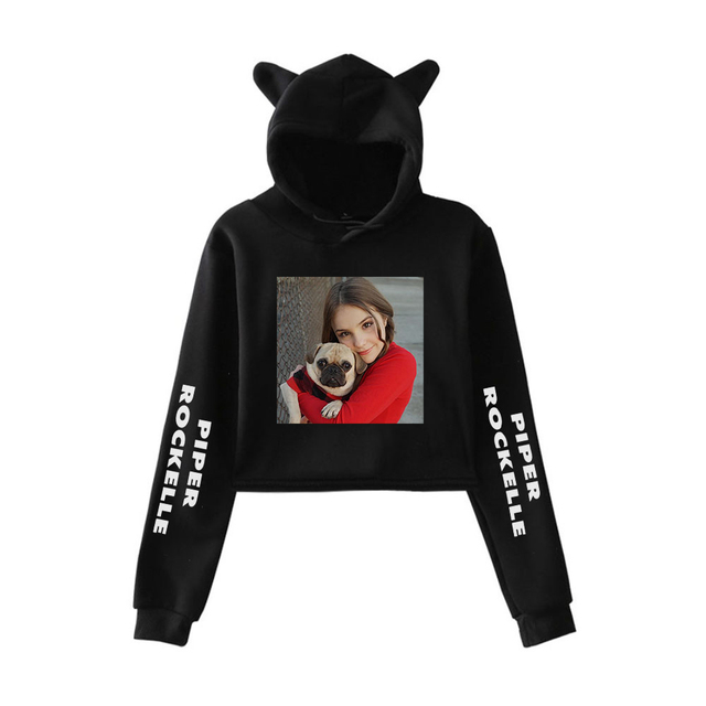 2020 Piper Rockelle Merch Women Cat Ear Sweatshirt Popular Casual Streetwear Harajuku Piper Rockelle Cool Print Hoodies 4
