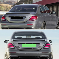 Use for Benz E class sedan W213 spoiler 2016  2020 year E63 style glossy real carbon fiber rear wing Sport Accessories body kit