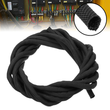 цена на Black Wrap Braided Cable Sleeve 5mm*300cm General Wire Pipe Hose Indoor Wiring Protection Flexible Nylon Sleeve Mayitr