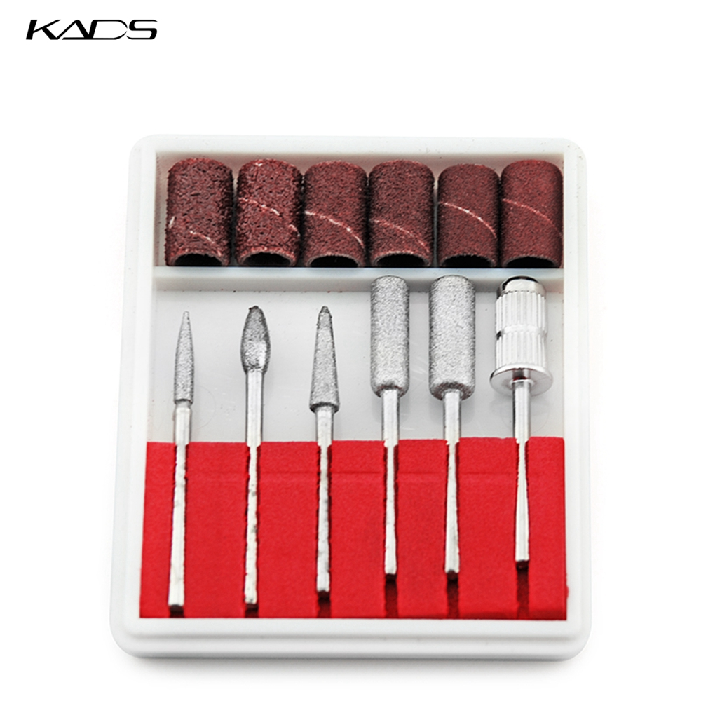 KADS Professional 6pcs Nail Art Drill Kit Bits File For Electric Drills & Filling System For Nail Drill Tool