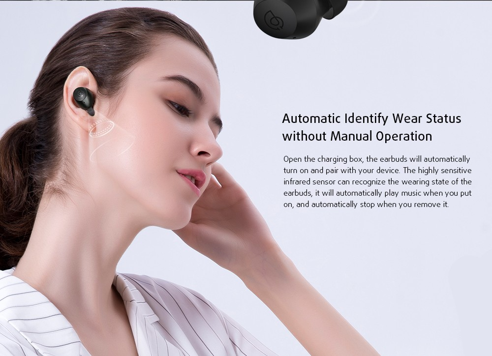 HAYLOU T16 Bluetooth Headphone Automatic Identify