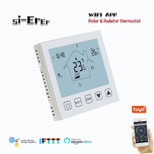 Dry contac Gas boiler temperature controller thermostat WIFI APP Remote Controls with Floor heating linkage