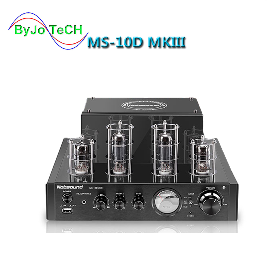 Nobsound MS-10D MKIII <font><b>2.1</b></font> channel Tube Amplifier Vaccum amplificador <font><b>Bluetooth</b></font> amplifier USB 110V or 220V Coaxial Optical image