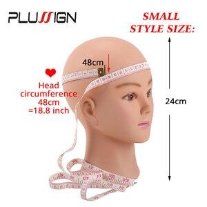 Image 4 - Plussign 20,5 дюйма голова манекена для париков с подставкой, лысый парик с подставкой, пенная головка для макияжа белого и темно коричневого цвета