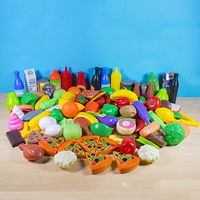 Kids play house simulation food set baby fruit and vegetable burger cognition 120 kitchen toys green healthy plastic toys