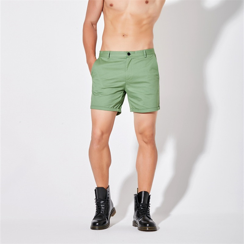 Men casual summer shorts pink white black Khaki green five colors-in Casual Shorts from Men's Clothing