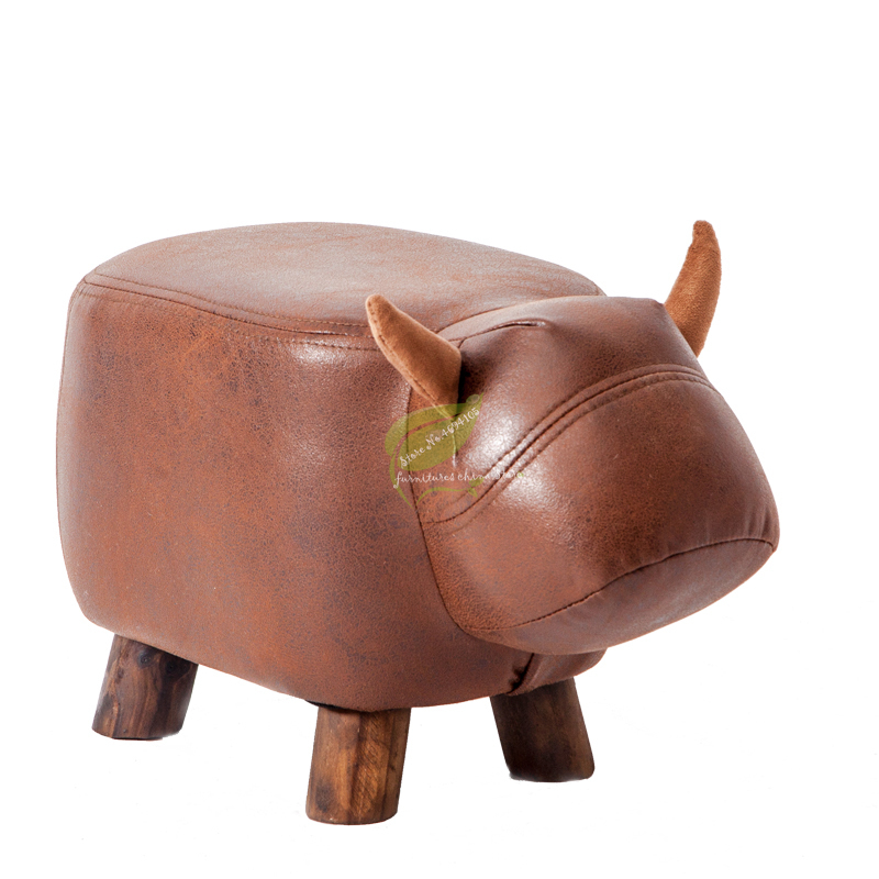 Low Stool Creative Solid Wood Designer Mini Calf Change Shoes Stool Children Sit Stool Animal Bench Wear Shoes Stool