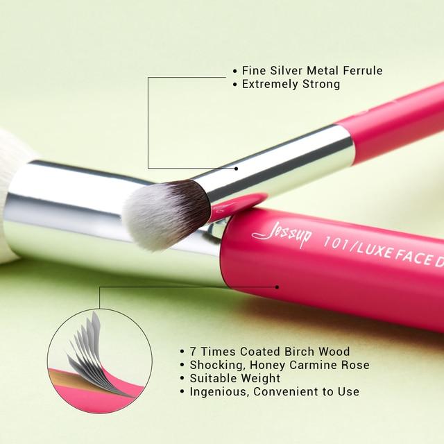 Jessup Rose-carmin/Silver Makeup brushes set Beauty Foundation Powder Eyeshadow Make up Brush 6pcs-25pcs Natural-synthetic hair 2