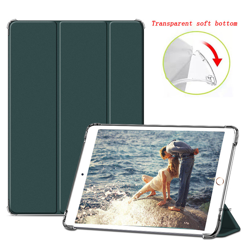 Dark green 1 Yellow 2020 case For iPad 10 2 inch 8th 7th Generation model A2270 A2428 Silicone soft bottom