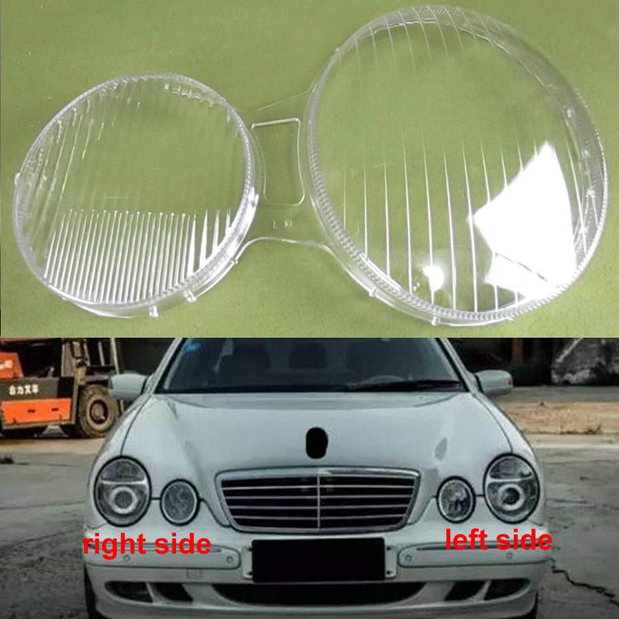 Headlight Cover Transparent Shell Headlamp Shell Lampshade Glass Lens For 2001 2002 2003 Benz W210: E200 E240 E320 E430