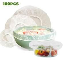 Neue 100 stücke Reusable plastic Taschen Lebensmittel Abdeckung Elastische Stretch Einstellbare Schüssel Deckel Universal Küche Wrap Dichtung Frische Halten Caps