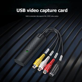 Adapter do kart doskonałe rzemiosło dobrze trwałość HW-1401 USB2 0 AV wideo Audio nabycia Tuner TV do nagrywania tanie i dobre opinie ALLOYSEED CN (pochodzenie) Acquisition card