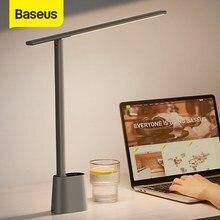 Baseus LED Lampe de Bureau Oeil Protéger Étude Dimmable Lumière De Bureau Lampe De Table Pliable Intelligent Adaptatif Luminosité Lampe De Chevet Pour Lire