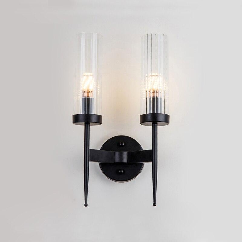 led wall mounted design kinkiet sombra vidro 05
