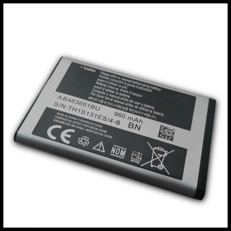 10 PCS/LOT AB463651BU Batterie Pour Samsung S5610 W559 S5620 S5630C C3200 F339 S5296 C3322 C3530 Batterie AB463651BE AB463651BU