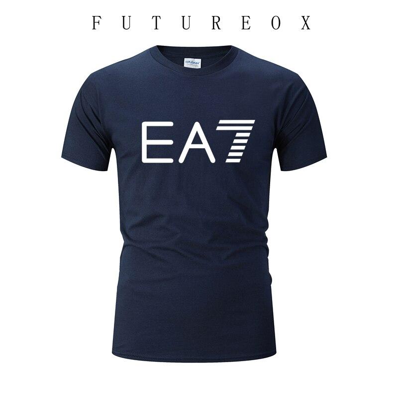 Men's Print Running Shirts Cotton Gym Fitness T Shirt Men Rashgard Short Sleeves Training O-Neck T-shirt Brand Clothing Tees Top