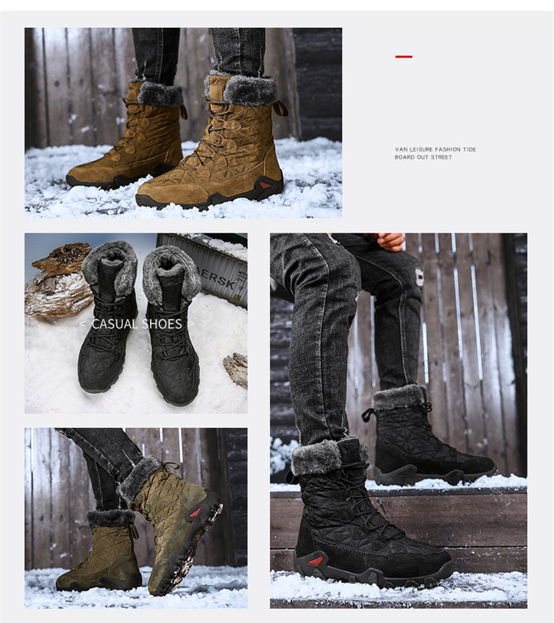 Vancat Men's Waterproof Winter Boots