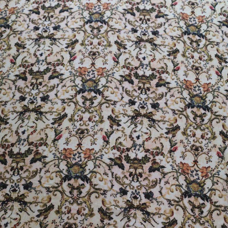 Material de tela de crepé de gasa Vintage para vestido de noche sombreado flor digital