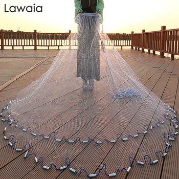 Lawaia 240 cm-720 cm sieć rybacka 300cm sieć rybacka amerykański znak obsada sieć sieć ręczna sieć składana sieć