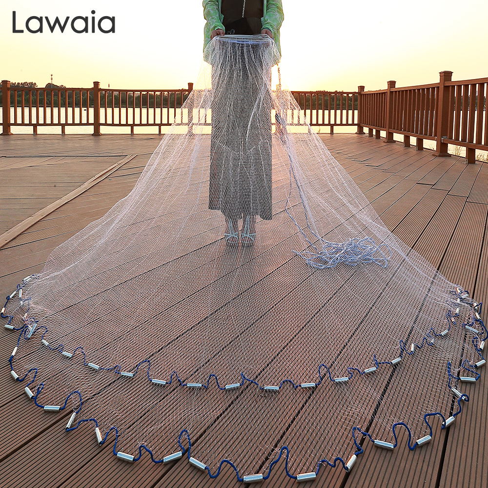 Lawaia 240cm-720cm Fishing-net 300cm Fishing Net American Sign Cast Network Hand Net Network Net Folding Network