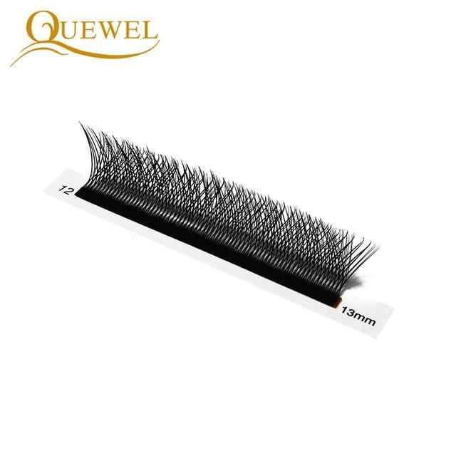Quewel W Shape Individual Volume Eyelashes W Style Double Tip Eyelash Extensions Fans C/D Curl New False Eye Lash Makeup Tool 5