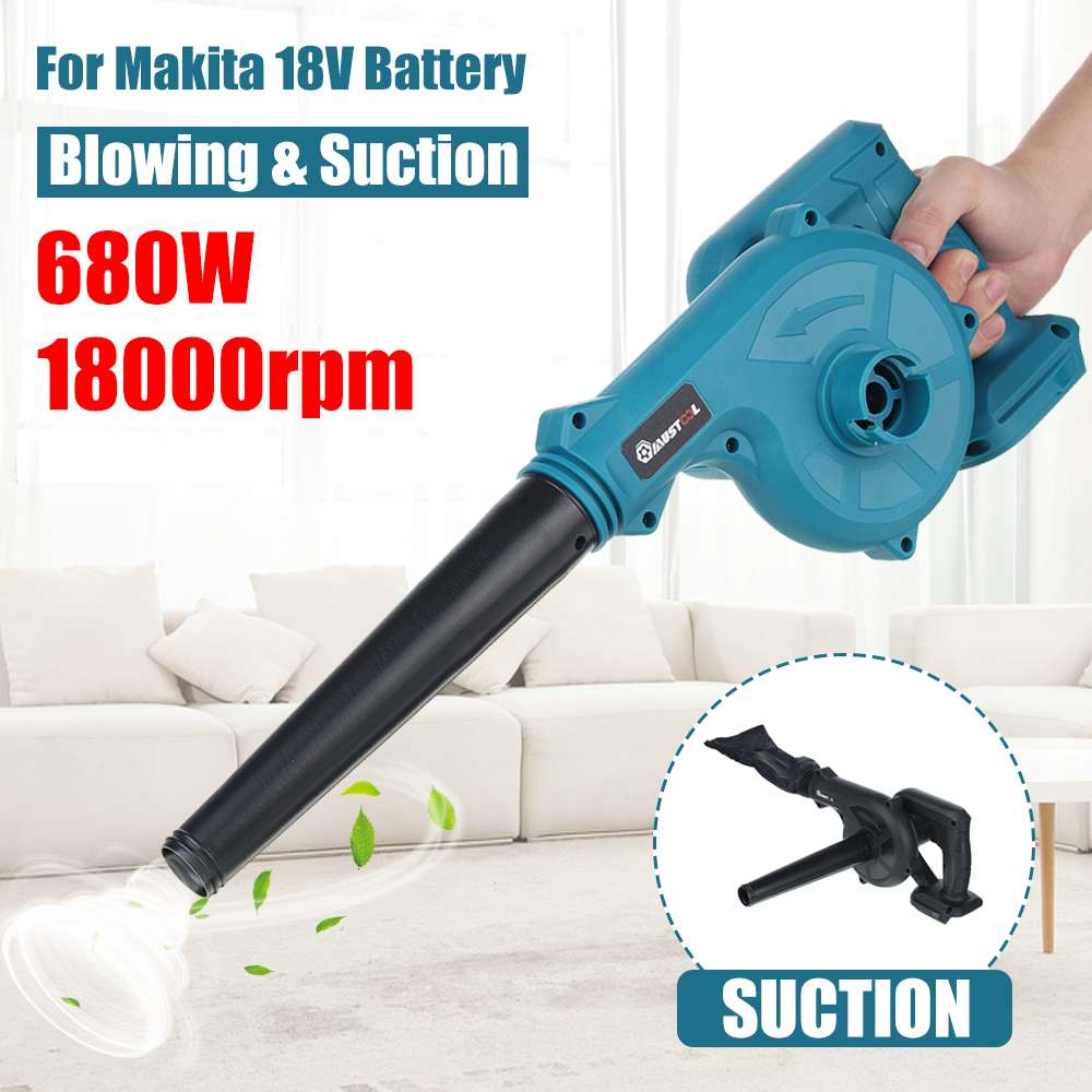680W Cordless Electric Air Blower Vacuum Cleaner Blower Hand Leaf Computer Dust Collector Power Tools For Makita 18V Battery