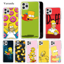 Moda Simpsons Tpu kılıf Apple iPhone 11 Pro Max XR XS XR 7 8 6 6S artı 5 5 S S SE 2020 kesesi telefon Carcasa Coque(China)