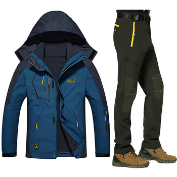 Winter Warm Ski suits Men Waterproof Fleece Snow Jackets Thermal Windproof Outdoor Mountain Snowboarding Ski Coat And Pants Sets