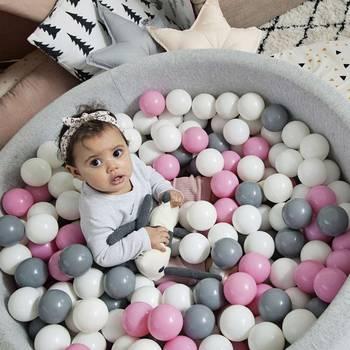 400 unids/lote Bolas de plástico para piscina seca juegos deportivos al aire libre juguetes para niños seguro océano Macaron esfera de Color para piscina