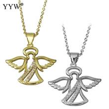 Women Necklace Hollow Angel Pendant Extender Chain Trendy Female Jewelry Clavicle High Quality Bijoux Naszyjnik collares de moda(China)