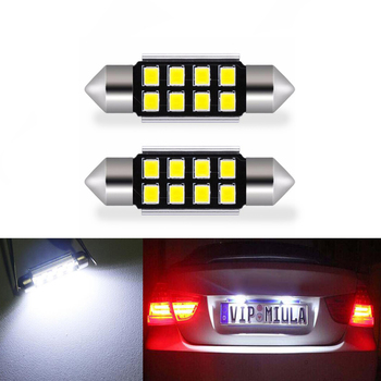 2x LED 36mm White CANbus C5W Bulbs 2835SMD Interior Lights License Plate Light For BMW E39 E36 E46 E90 E60 E30 E53 E70 image