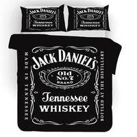 Musolei Jack Daniels 3D Bedding Set Queen Size Duvet Cover comforter cover set Wine Brandy Home Bed Room Textiles Q39