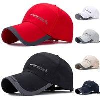 ספורט כובע Mens כובע עבור דגים חיצוני אופנה קו בייסבול כובע מגן ארוך ברים צל Snapback שמש כובע אביב קיץ עצם Gorras