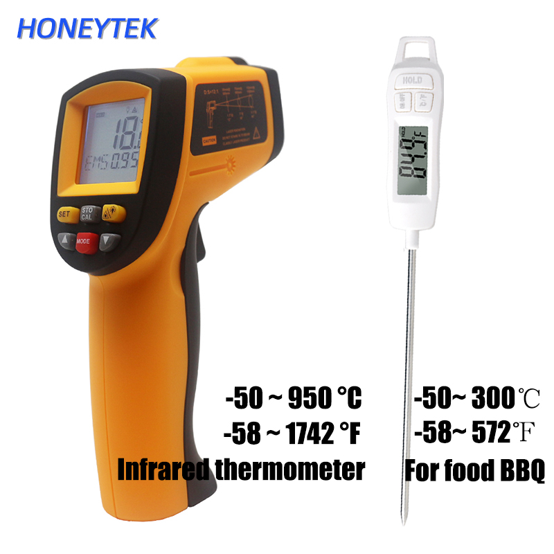 GM900 Digital laser thermometer ir Infrared thermometer handheld electronic car temperature gun non contact 950C Industrial