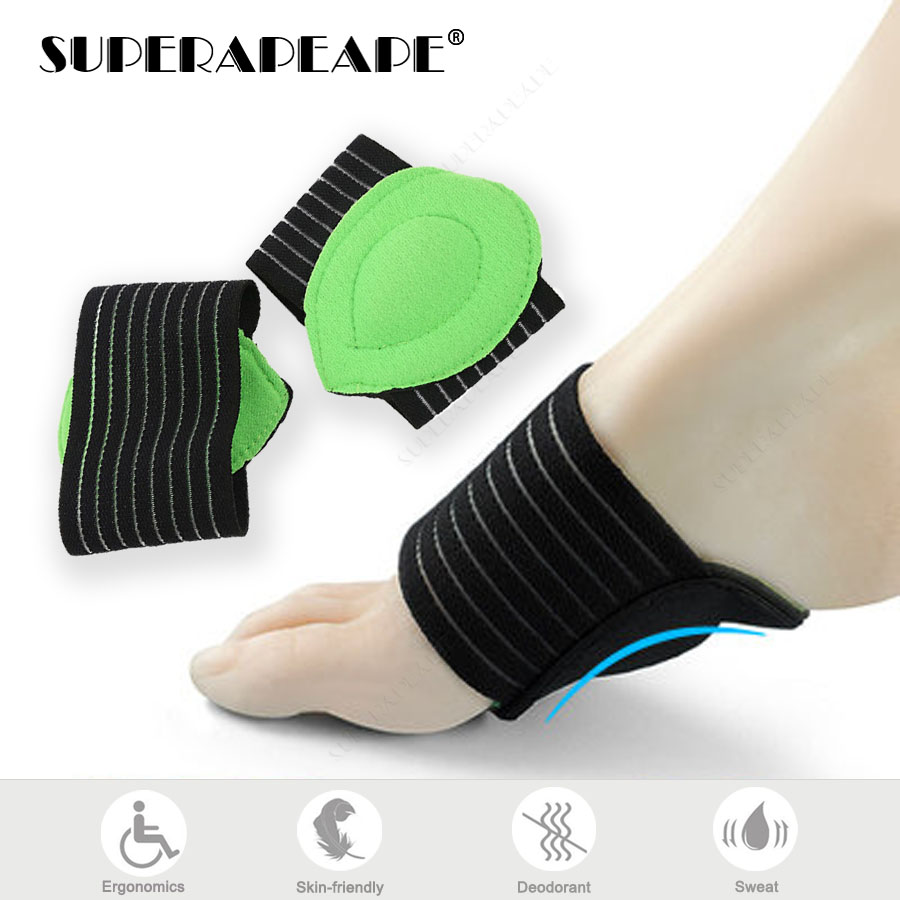 1 Pair Arch Support Cushion Foot Arch Protection Orthotic Insoles Alleviate Pain Plantar Cushion Sleeve Pads Insert Unisex